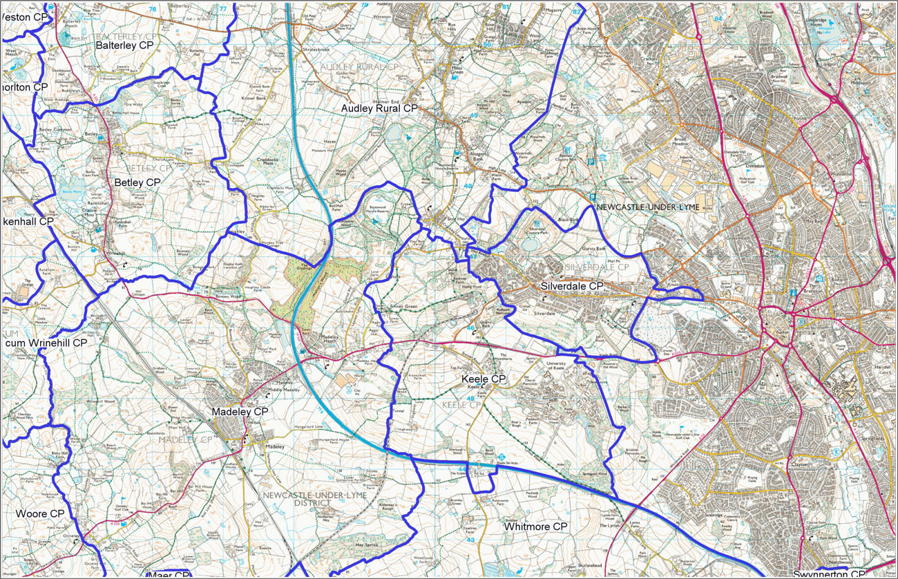 Silverdale Parish Council in relation to others nearby