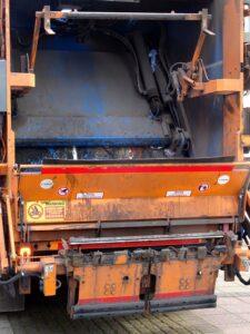 Rear of a domestic refuse truk